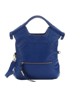 Foley + Corinna sapphire leather 'City' convertible top handle tote