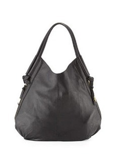 Foley + Corinna Sequoia Leather Hobo Bag, Black Ivy