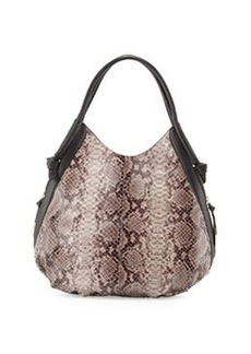 Foley + Corinna Sequoia Snake-Embossed Leather Hobo Bag, Serpentine