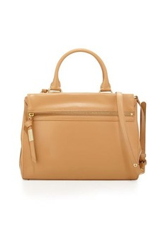 Foley + Corinna Sherry Front-Zip Leather Satchel Bag