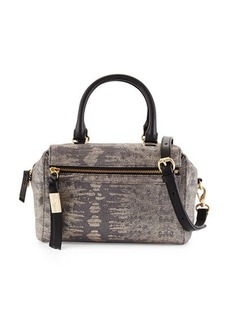 Foley + Corinna Sherry Lizard-Embossed Leather Demi Satchel Bag
