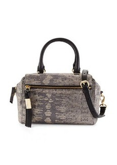 Foley + Corinna Sherry Lizard-Embossed Leather Demi Satchel Bag, Metallic Lizard