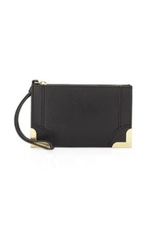 Foley + Corinna Small Pebble Leather Wristlet Pouch, Black