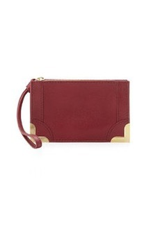 Foley + Corinna Small Pebble Leather Wristlet Pouch, Cranberry