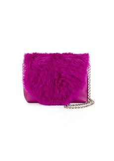 Foley + Corinna Stardust Rabbit-Fur Mini Crossbody Bag