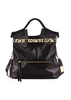 Foley + Corinna Studded Mid City Leather Tote Bag