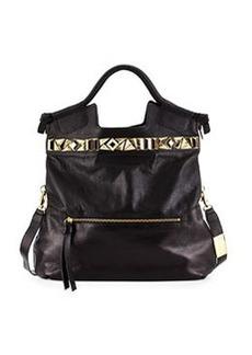 Foley + Corinna Studded Mid City Leather Tote Bag, Black