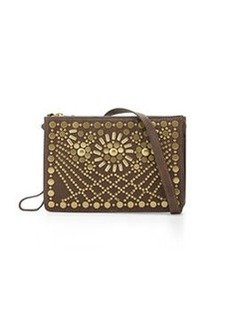 Foley + Corinna Sunburst Mini Leather Crossbody, Truffle Brown