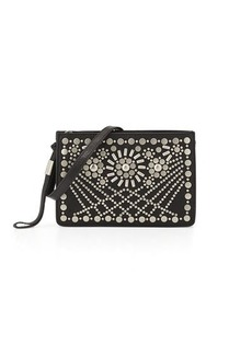 Foley + Corinna Sunburst Mini Studded Leather Crossbody