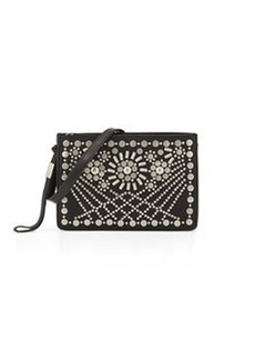 Foley + Corinna Sunburst Mini Studded Leather Crossbody, Black