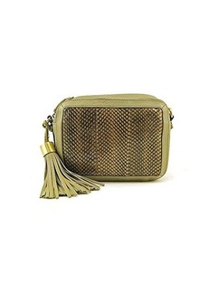 Foley + Corinna Tassel Charmer Watersnake Cross Body Bag,Safari Snake,One Size