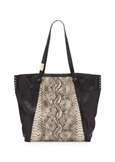 Foley + Corinna Tight Rope Snake-Print Tote Bag