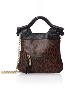 Foley + Corinna Tiny City Cross Body Bag, Brown Leopard, One Size