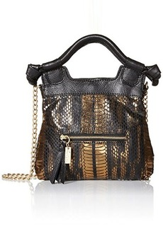 Foley + Corinna Tiny City Evening Bag, Bronze Snake Combo, One Size