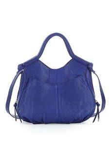 Foley + Corinna Trapeze Side-Zip Leather Satchel Bag, Iris