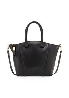 Foley + Corinna Tucker Leather Satchel Bag, Black