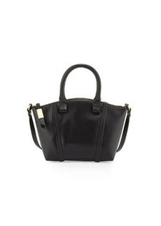 Foley + Corinna Tucker Small Leather Satchel Bag, Black
