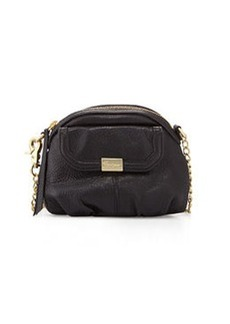 Foley + Corinna Tumbled Leather Crossbody Bag, Black