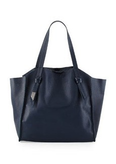 Foley + Corinna Tye Perforated Leather Tote Bag, Navy