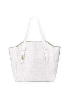 Foley + Corinna Tye Perforated Leather Tote Bag, White