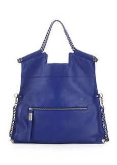 Foley + Corinna Unchained City Fold-Over Leather Tote Bag, Iris
