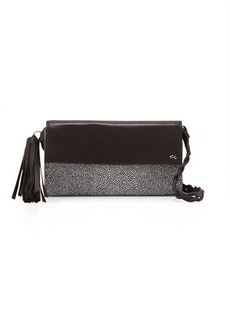 Foley + Corinna Vesta Tassel Stingray-Print Leather Crossbody Bag