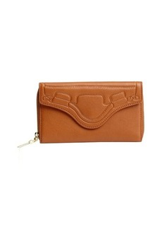 Foley + Corinna whiskey brown leather 'City' continental wallet