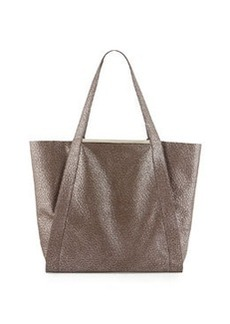 Foley + Corinna Winged Pebbled-Leather Tote Bag, Sterling