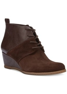 Franco Sarto Albi Wedge Lace-Up Booties Women's Shoes