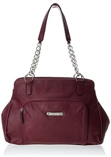 Franco Sarto Carmina Satchel,Wine,One Size