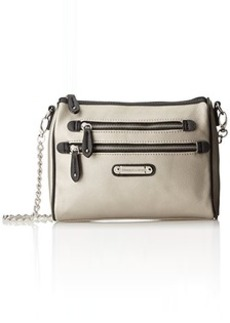 Franco Sarto Class Act Shoulder Bag,Silver,One Size
