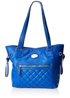 Franco Sarto Dallas Quilted Travel Tote,Cobalt,One Size