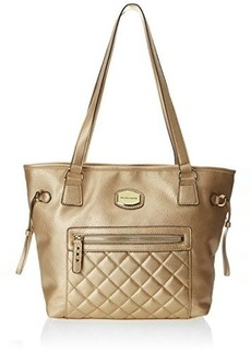 Franco Sarto Dallas Quilted Travel Tote,Soft Gold,One Size
