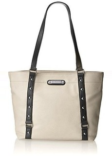Franco Sarto Nicole Travel Tote,Bone/Black,One Size