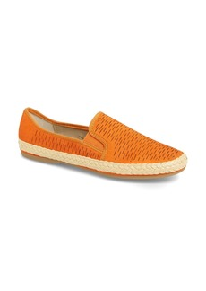 Franco Sarto Perforated Leather Espadrille Flat (Women)