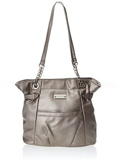 Franco Sarto Rosina Travel Tote,Pewter,One Size