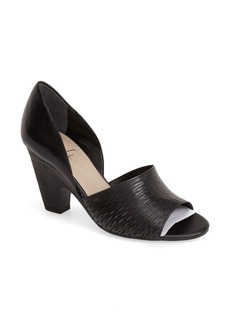 Franco Sarto 'Selina' Slash Perforated Leather Pump (Women)