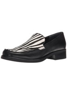 Franco Sarto Women's Bocca2 Slip-On Loafer, Black/White Zebra, 9 M US