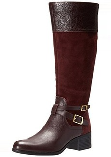 Franco Sarto Women's Lapis Wide Calf Western Boot, Aubergine, 6.5 M US