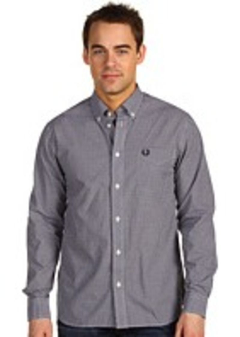 fred perry fred perry gingham shirt casual shirts shop it to me. Black Bedroom Furniture Sets. Home Design Ideas