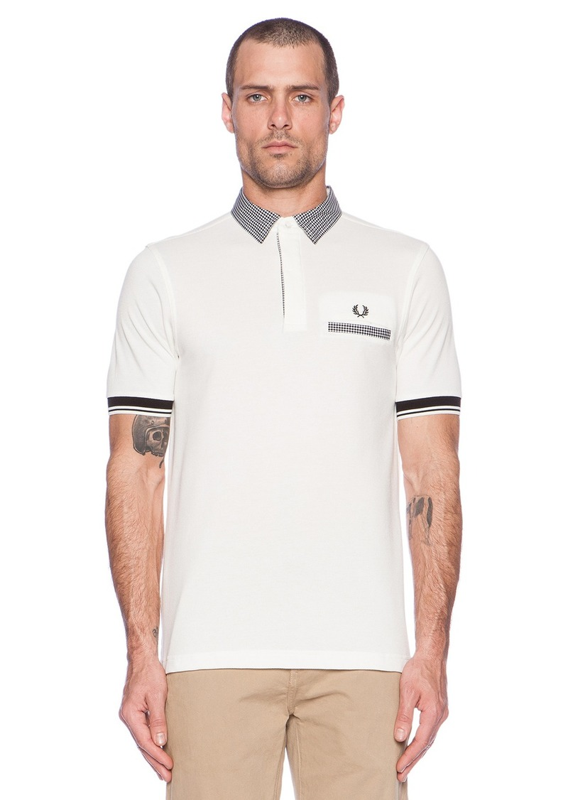 fred perry fred perry gingham trim tipped polo casual. Black Bedroom Furniture Sets. Home Design Ideas