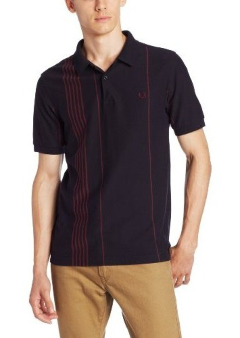 fred perry fred perry men 39 s vertical stripe polo casual shirts shop it to me. Black Bedroom Furniture Sets. Home Design Ideas