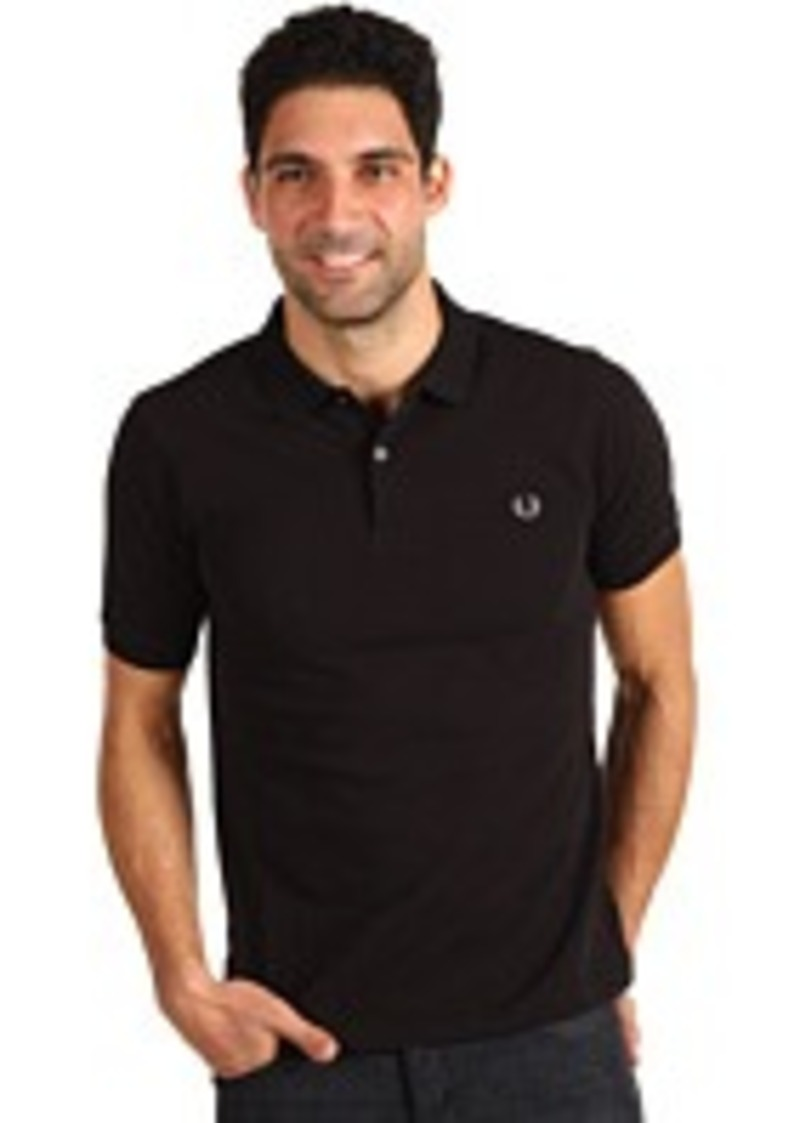 fred perry fred perry slim fit solid plain polo casual shirts shop it to me. Black Bedroom Furniture Sets. Home Design Ideas