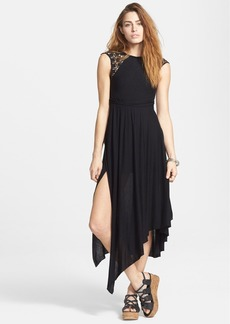 Free People 'Afternoon Delight' Lace Strap Asymmetrical Midi Dress