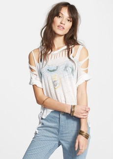 Free People 'All Tore Up' Print Tee