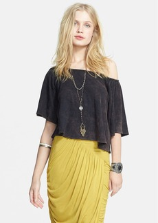 Free People 'Barcelona' Linen & Cotton Tee