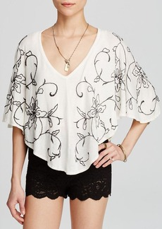 Free People Blouse - Sevilla Embroidered Knit