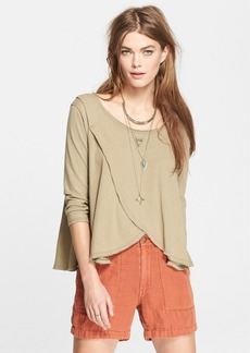 Free People 'Bonsai' Drape Front Jersey Tee