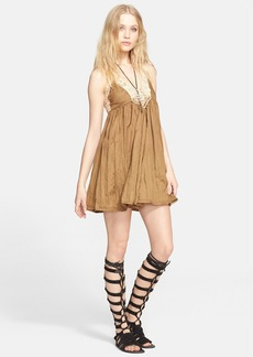 Free People 'Breathless' Lace Trim Minidress