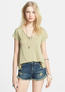 Free People 'Breezy' Knot Back Tee